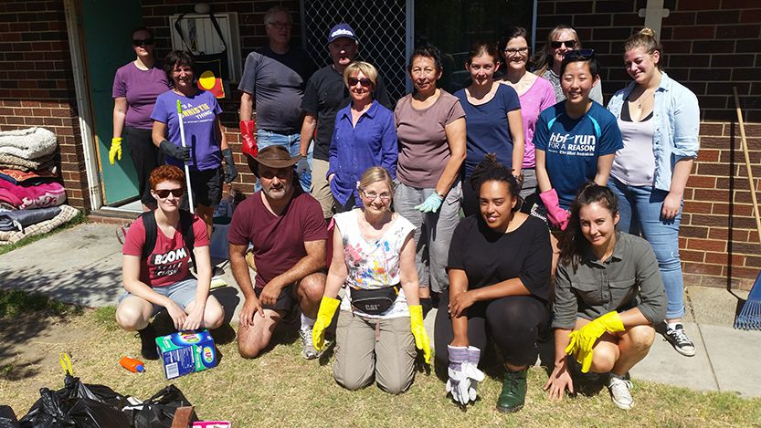 First Nation Homelessness Project volunteers